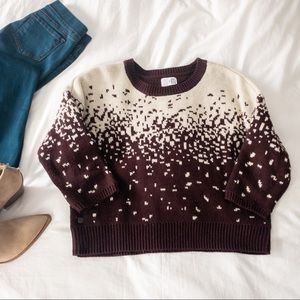One Fashion Vero Moda Burgundy Cropped Sweater